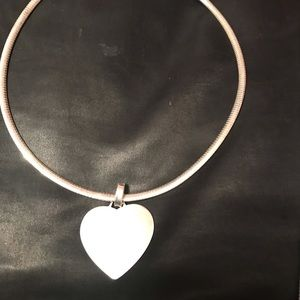 Jewelry - snake necklace with large sterling silver heart